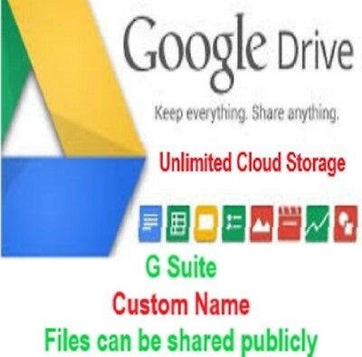 Google Drive Unlimited Cloud Storage Account 🔥 Custom Name 🔥