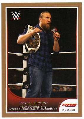 2016 Topps WWE Road to Wrestlemania Bronze Parallel #29 Daniel Bryan
