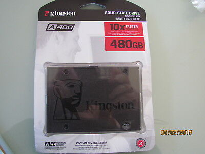 "Kingston Solid State Drive A400 480GB  2.5"" Sata"