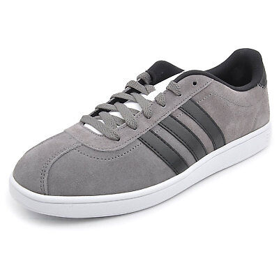 timeless design 34e46 659c7 adidas NEO Mens VL Court Suede Fashion Trainers Casual Sneakers Grey (B  Grade)