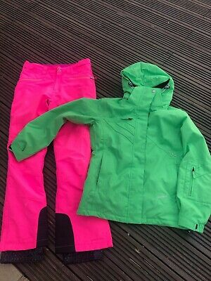 Ladies Girls Ski Suit, Surfanic Ski Jacket & D2B Ski Trousers, Size 8 (Age 15-16
