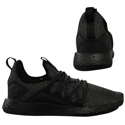 1f8aacd5d25a Puma NRGY Neko Knit Mens Black Slip On Lace Up Running Trainers 191093 06  D103