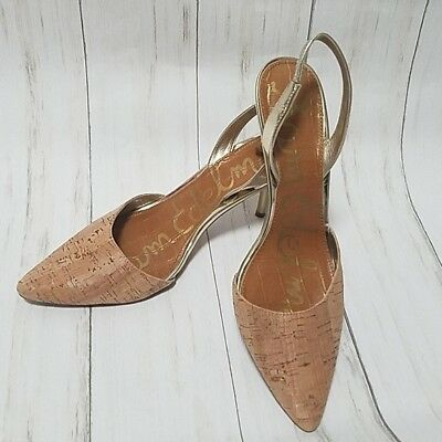2ae1d2763 Excellent Condition Sam Edelman Tan Slingbacks size 8.5