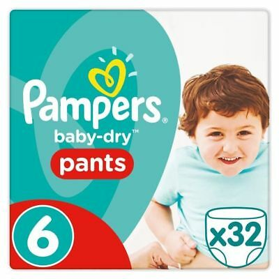 PAMPERS - Baby-Dry Pants Taille 6 15+ kg - 32 Couches-culottes - 3000 836 NEUF