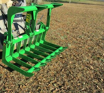 MTL Attachments John Deere Compact Tractor 50 Root Rake Grapple Bucket-Free Ship