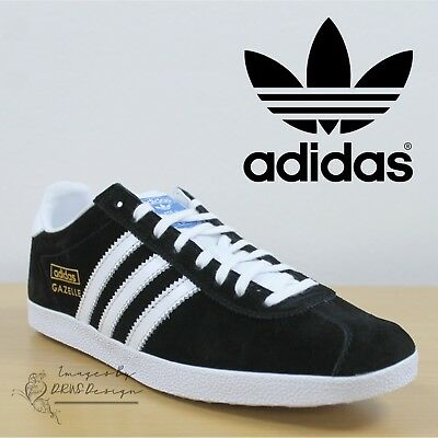 adidas Originals Gazelle OG Men's Black Trainers Casual Sneakers CLEARANCE SALE