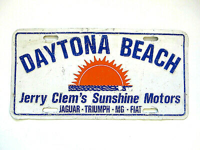 70-80 Florida Booster Jerry Clem License Plate Daytona Beach MG Fiat car tag #9