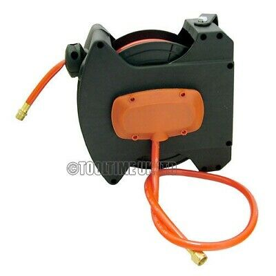 30Ft 10M Auto Rewinding Retractable 300Psi Air Line Hose Reel - Wall Mountable
