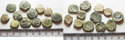 ZURQIEH -as9955- NABATAEANS OF PETRA. LOT OF 12 AE COINS. ORIGINAL DESERT PATINA
