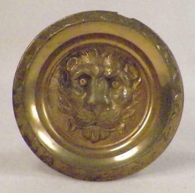 Antique Curtian Tie Back Lion Head Brass Screw Back 1 Only