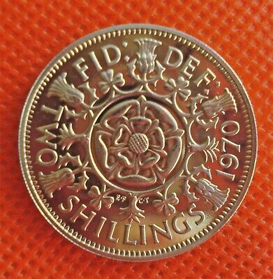 Stunning 1970 Scarce  Proof Two Shilling / Florin Last Date Coin Was Issued