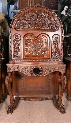 """""""Cathedral"""" Console Hand-Carved Cabinet (Only)-  Scott McMurdo Silver"""