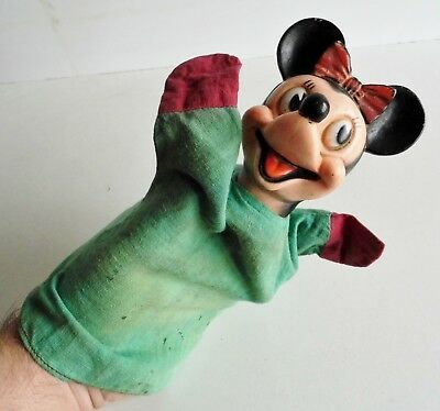VINTAGE 1950's MINNIE MOUSE GLOVE PUPPET - WALT DISNEY - RARE EARLY EXAMPLE