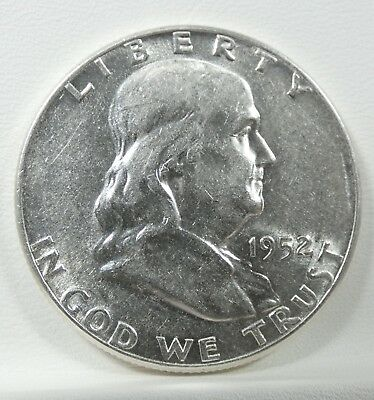 1952 Franklin Half Dollar  ALMOST UNCIRCULATED Silver 50c