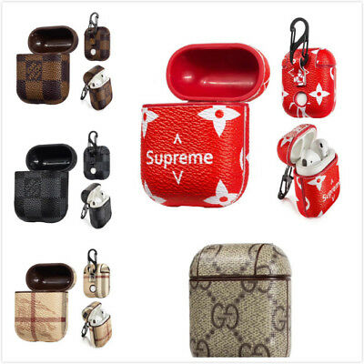 Fashion Leather Case For AirPods Protective Cover for Apple Earphone Charging US