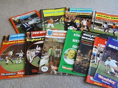 11 1978 to 1983 England International home game programmes, 1 SIGNED