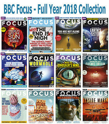 BBC Focus - 12 Magazines - 2018 Full Year Issues - Digital PDF