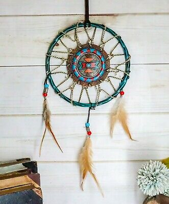 Native Indian Turquoise Blue Stone Dreamcatcher Wall Hanging Decor Dream Catcher