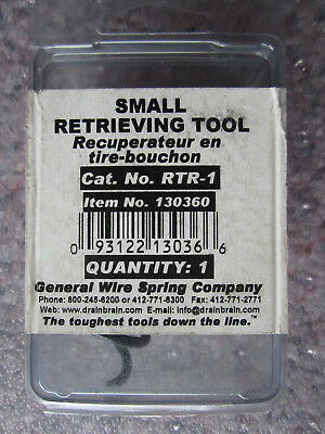 General Wire Spring RTR-1 Drain Cleaner Retrieving Tool - Lot Of 2 Funnel Augers