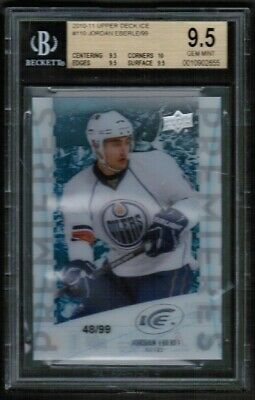 2010 11 UD Upper Deck Ice Jordan Eberle Rookie RC /99 BGS 9.5 Gem Mint
