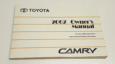toyota camry xle owners manual
