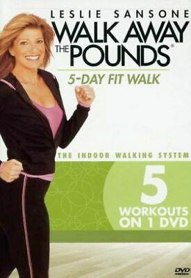 Walk Away The Pounds Aerobics DVD - Leslie Sansone - 5 Day Fit Walk - 5 Workouts