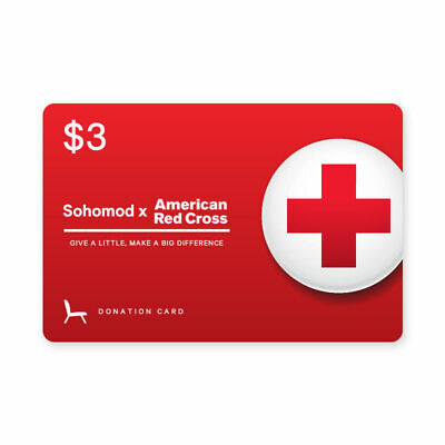 Sohomod x American Red Cross $3 Donation Card