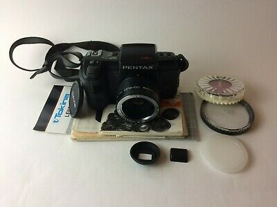 Pentax SF1N 35mm SLR with RMC Tokina Doubler for P/KA and Filter Case Cap Strap