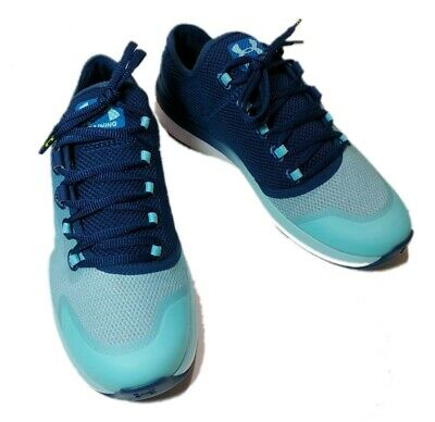 55e87dcbeacc Under Armour UA Womens Charged Push Training Shoes Size 9.5 Teal Blue Mint