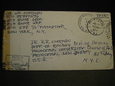 APO 638 SUNNING HILL, ENGLAND 1943 Censored WWII Army Cover 453 Bomb Sqdn 323 Gp