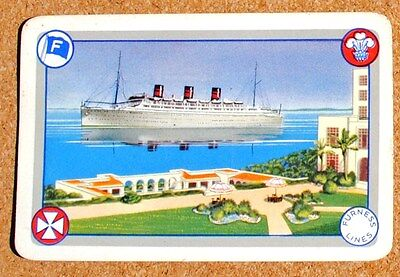 "/""Fred Olsen Line/"" SS Shipping Steamship Single Vintage Playing Card"