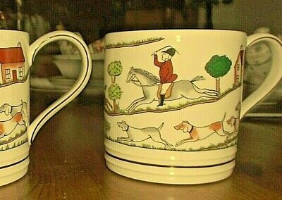 "One Wedgwood ~ Hunting Scenes ~ 3.5"" tall 3.25"" diam Tankard Shaped  Mug"