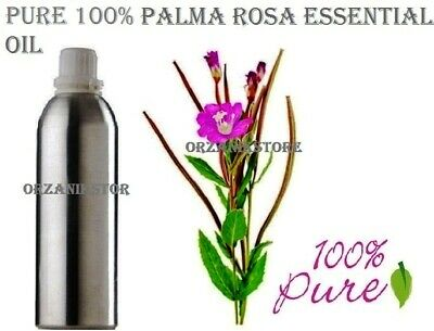 Essential Oil Pure Palmarosa Natural 100 %Therapeutic Aromatherapy 5 ml -500 ml