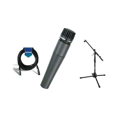 Shure SM57LC Cardioid, Dynamic Handheld Microphone W/MB1 Mini Boom Stand/Cable
