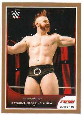 2016 Topps WWE Road to Wrestlemania Bronze Parallel #14 Sheamus
