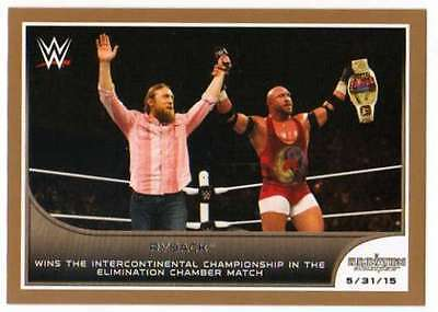 2016 Topps WWE Road to Wrestlemania Bronze Parallel #40 Ryback