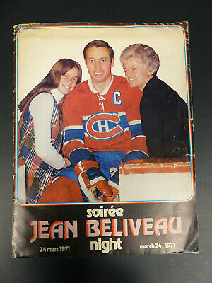 1971 Montreal Canadiens J. Beliveau Night File & Poster