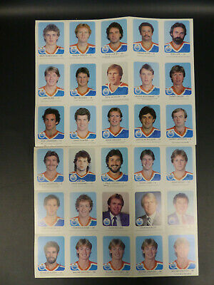 1982-83 Red Poster Edmonton Oilers Card Full Set 30/30