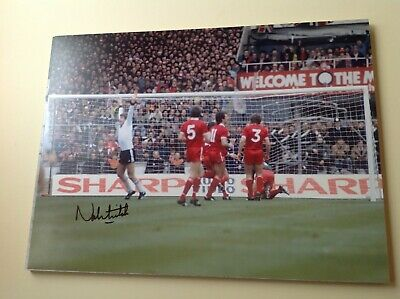 """Manchester Utd -  Norman Whiteside - Hand Signed - 16"""" X 12"""" picture With COA"""