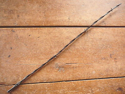 CURTIS HALF ROUND TWO POINT BARB on FLAT & ROUND LINES - ANTIQUE BARBED WIRE
