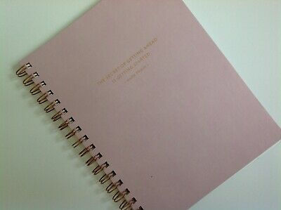 New Fringe Luxury 192 Page Lined Notebook Pink Twain The Secret of Getting Ahead