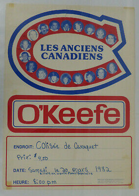 1982 Montreal Canadiens Old Timer Advertising Poster