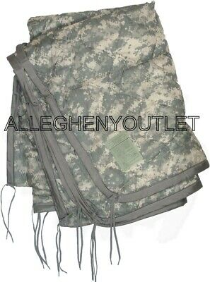 USGI Military ACU DIGITAL Camo Wet Weather PONCHO LINER Woobie Blanket LN