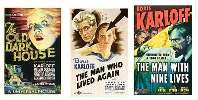 Karloff-Old Dark House 1932,man Who Changed His Mind 1936,man With 9 Lives 1940