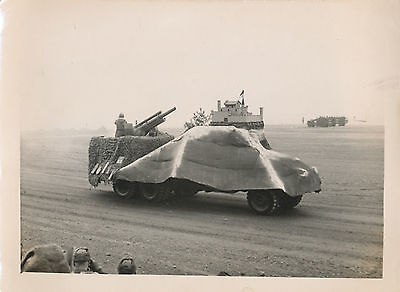 1950's Korea War US Army review /parade photo  105mm howitzer fires blanks