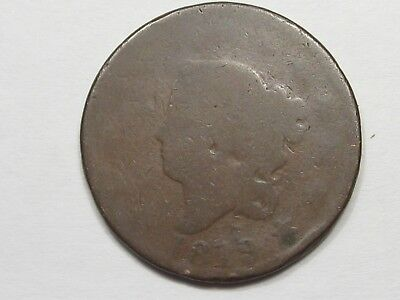 1819 US Coronet Head Large Cent Coin (Large Date - Weak).  #15