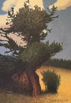 Russell Chatham Original lithograph Bristlecone Pine signed/date numbered Mt Art