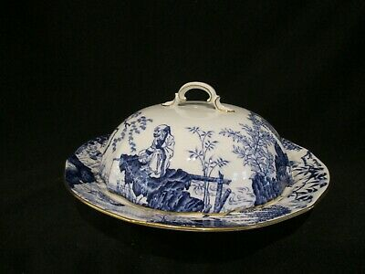 Royal Crown Derby BLUE MIKADO - Covered Muffin Dish