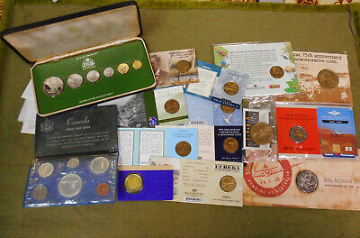 #Yy12.    #3.   Lot Of Fifteen(15)  Australian & World Coins