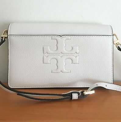 8273cdd607f8 TORY BURCH Bombe-T Small Crossbody ~ New Ivory Pebbled Leather ~ Clutch NWT